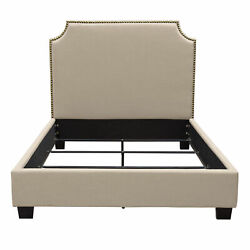 Diamond Sofa Kingston Queen Bed With Nail Head Accent Kingstonsdqubed