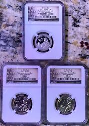 2021 P D Tuskegee Airmen Quarter 25c Ngc Ms67 And S Pf70 Early Releases 3 Coin Set