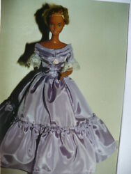 18 In.barbie Pattern For Victorian Ball Gown