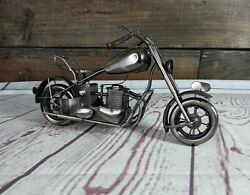 Vintage Chopper Motorcycle Model Toy Diecast Crafts Bar Dining Room Decor Caddy