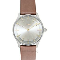 Sinn Classic Timepieces 1739.011-leather-calfskin-gbrw Silver Dial Menand039s