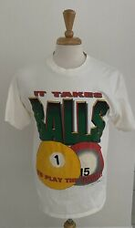 Vintage Coed Naked Life Sports Mens Tshirt Size L Made In Usa Pool Billiard 1994