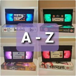 A-z Other Movies Handmade Led Vhs Tape Lamp Birthday Gift Present Retro Light