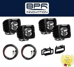 Rigid Radiance Pod White And Fog Light Kit And Harness For 2010-2015 Ram 2500/3500