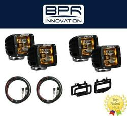 Rigid Radiance Pod Amber And Fog Light Kit And Harness For 2010-2015 Ram 2500/3500