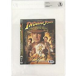 George Lucas Signed Indiana Jones Dvd Cover Beckett Slabbed Autograph Star Wars
