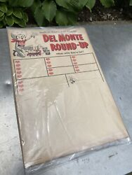 Vtg Grocery Store Farm Del Monte Huge Lot New Round Up Cowboy Foods Sign Paper