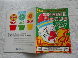 1970 52nd Annual Zuhrah Shrine Circus Program And Coloring Book