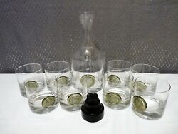 Rosenthal Studio-line Asian Shou 9pc Decanter And Old Fashioned Tumbler Glasses