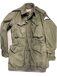 Vintage Us Army M-1951 Field Jacket 7th Army Xs Distressed