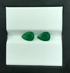 2.91 Cts_awesome Minor Top Quality 100 Natural Emerald Pair Mine Zambia
