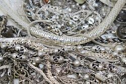 Bulk Lot Sterling Silver Necklaces, Chains Asst Styles 1000 Dwt 50 Ozt 925 21079