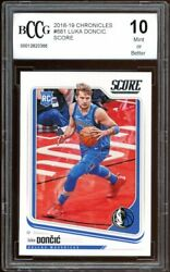 2018-19 Chronicles Score 682 Luka Doncic Rookie Card Bgs Bccg 10 Mint+