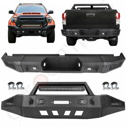 Steel Front / Rear Bumper W Led Light D-ring Winch For 2007-2013 Toyota Tundra