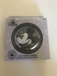 Disney Mickey Mouse Glass Compact Mirror Free Shipping