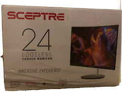 Sceptre 24-inch Curved Gaming Monitor 75hz Cracked Screen