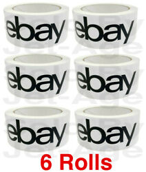 6 Rolls Official Ebay Branded Tape Packing Shipping Supplies 75' X 2, Priority