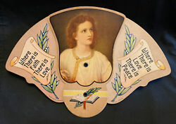 Early 1900s San Antonio Texas Hale Variety And Hardware Funeral / Advertising Fan