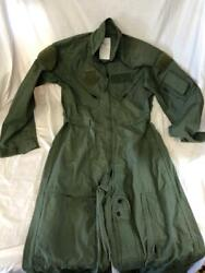 New Genuine Us Air Force Green Nomex Fire Resistant Flight Suit Cwu-27/p - 38r