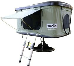 Takao Hardshell Roof Top Camp Tent - Khaki For Cars Trucks Suvs Fits 2-3 Person