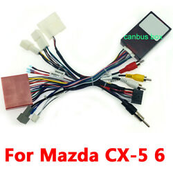 Car 16 Pin Audio Wiring Harness Connector With Canbus Box For Mazda Cx-5 2012-15