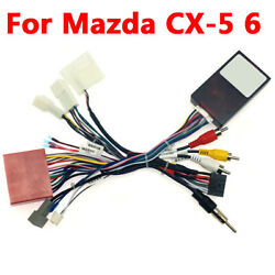 1 Pcs 16 Pin Car Audio Wiring Harness Adapter With Canbus Box For Mazda Cx-5 6