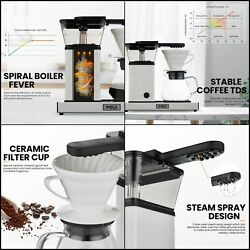 Miui One Touch Coffee Maker Machine 2-5cup/27oz Drip With Glass Carafe Bpa-free