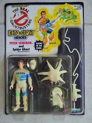 New Real Ghostbusters Peter Venkman And Spider Ghost 1986 Ecto Glow Heroes Figure