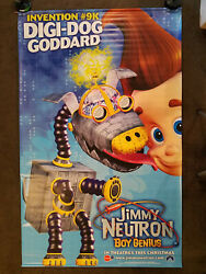 Jimmy Neutron Boy Genius Movie Theater Promo Vinyl Banner 4and039 X 6and039