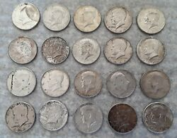 10 Face Value 90 1964 Kennedy Silver Half Dollars 20 Coins  One Roll