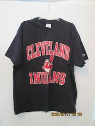 1984 Unisex Champion Mlb Cleveland Indians Cotton T-shirt Xl Made In Usa New
