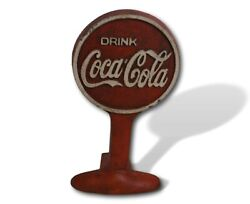 Coca Cola Door Stop Solid Metal Cast Iron With Patina Finish Coke Collector