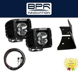 Rigid Radiance Pod White And A-pillar Mount Kit And Harness For 2007-2015 Jeep Jk