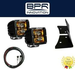 Rigid Radiance Pod Amber And A-pillar Mount Kit And Harness For 2007-2015 Jeep Jk