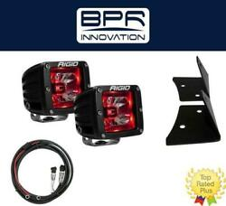 Rigid Radiance Pod Red And A-pillar Mount Kit And Harness For 2007-2015 Jeep Jk