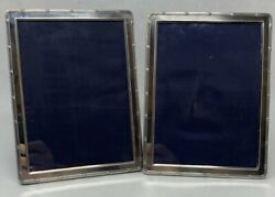 Two Sheffield Sterling Picture Frames English Silver 5 X 7 Frames 1997 Uk