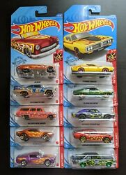 Hot Wheels - 2021 Hw Flames - Entire Series 1-10 - Lot Of 10 - Brand New 🔥 🔥