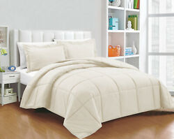 Glamorous 200 Gsm Down Alternative Comforter And Sets Ivory Solid Select Item