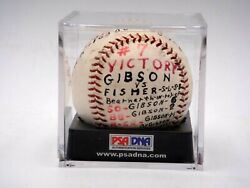 Bob Gibson Game Used Signed 1964 Win 7 Baseball Autographed Psa/dna Certified
