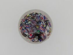 Antique Boston And Sandwich Millefiori Scramble / End Of Day Paperweight Gl