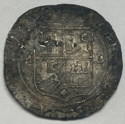 1542-1555 Nd Mexico 4 Reales Assayer L Carlos And Johanna Km 18 Silver Coin