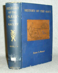 Antique Military History Book United States Us Navy Wars Battles 1775-1894 Vol 1