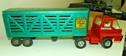 Structo Cattle Farms Inc Vintage 1950s-60s Cattle Transport Truck Trailer