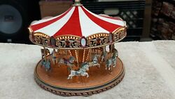 Mr. Christmas Gold Label Collection Worldand039s Fair Carousel Good Condition
