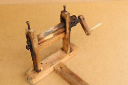 Old Antique Primitive Wooden Wood Cotton Seeds Extractor Farm Rural Device 19th