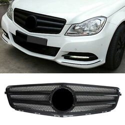 2-pin Front Grill Gloss Black Replace Fit Mercedes Benz C Class W204 2007-14 Car