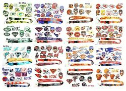Nfl Football 32team Sport Logos Patches Iron,sewing On Fabric. Free Neck Lanyard