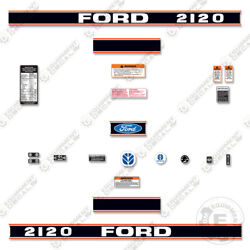 Ford 2120 Decal Kit Tractor - 7 Year 3m Vinyl Decal W/ Warning And Safety Stickers