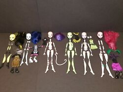 Create A Monster High Cam Doll Lot Skeleton Werewolf Dragon Cat Insect Witch