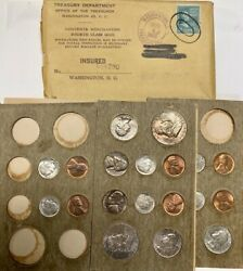1955 Mint Set Pds Toned Silver Coin Original Packaging W/ Stamped Envelope